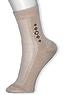 Носки подростковые, сетка, ромб D-1123