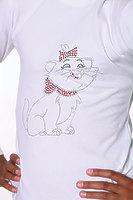 """Водолазка для девочки со стразами """"Цветная кошка"""" dgs-1204"""