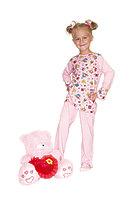 Пижама детская для девочек с манжетом dp-1203