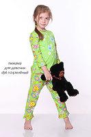 Пижама детская для девочек с рюшем dpl-1124
