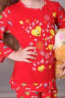 Пижама детская для девочек с рюшем dpl-1126