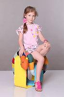 """Пижама детская для девочек с шортами """"бабочка"""" dpl-1127"""