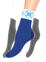 """Носки женские, махровые """"снежинка на бортике"""" Z-1417"""